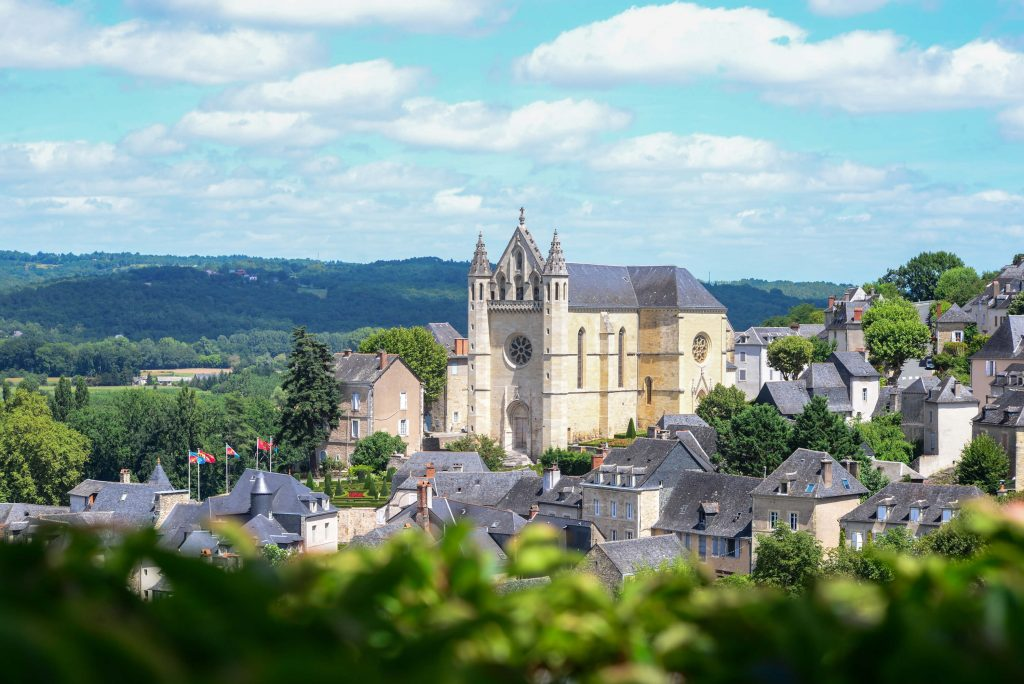 View on the old town of Terrasson-Lavilledieu