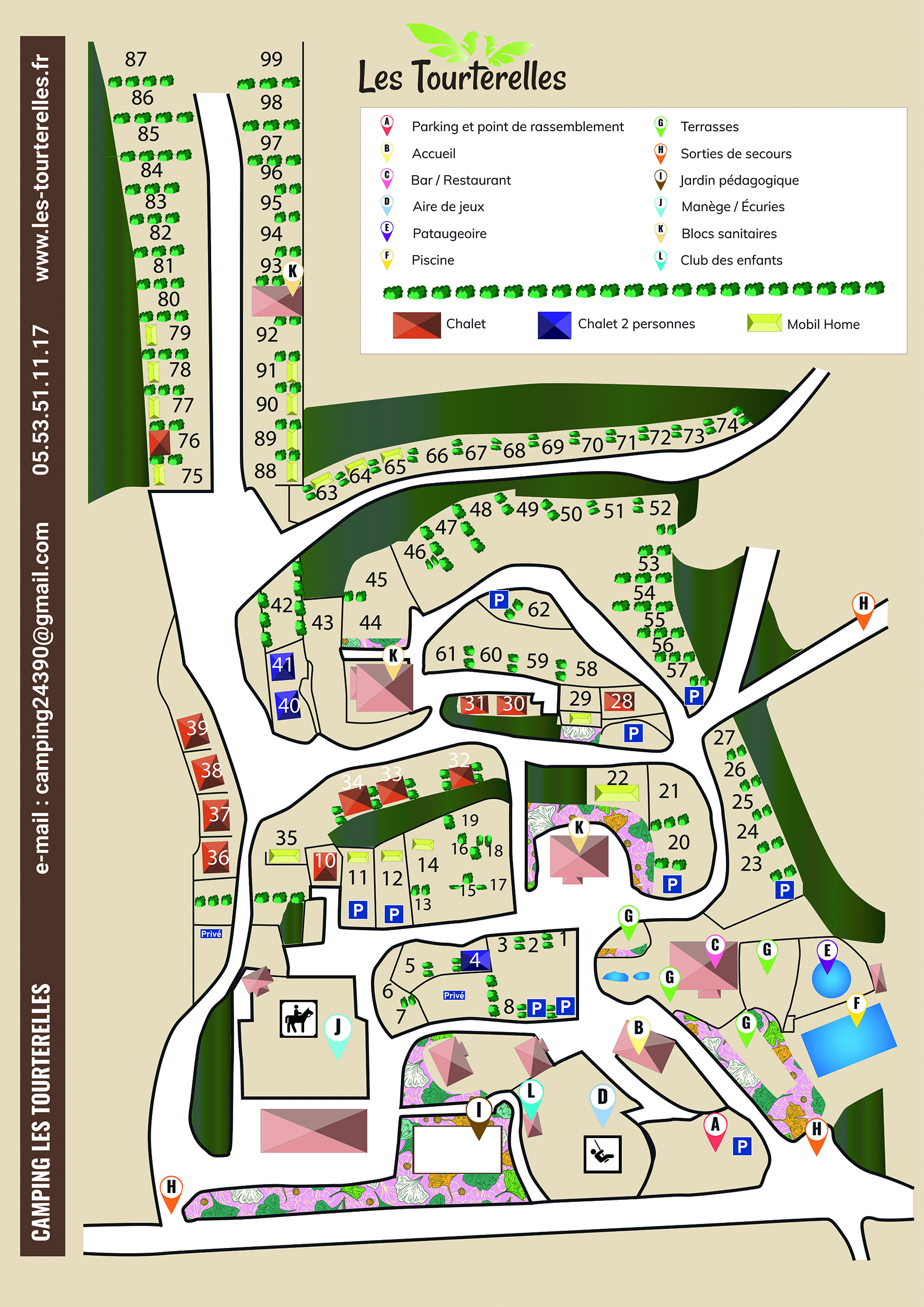 campsite map